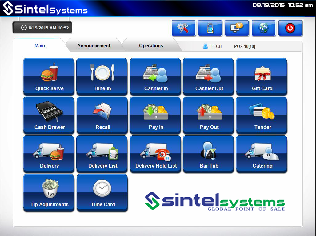 Restaurant software pos sintel systems point of sale for Restaurant design program